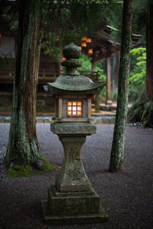 Japanese stone lantern style