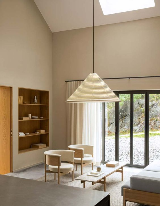 lighting concept in Japandi interior project