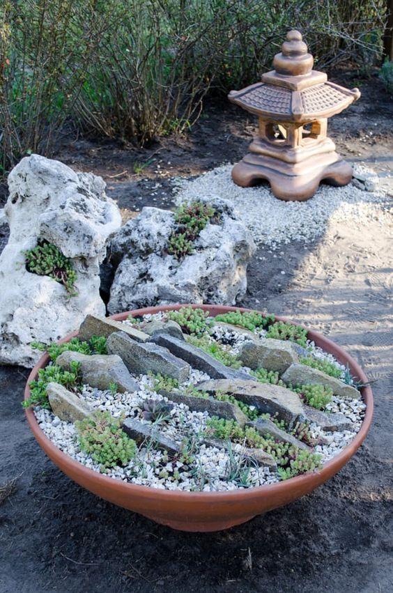 mini rock garden style