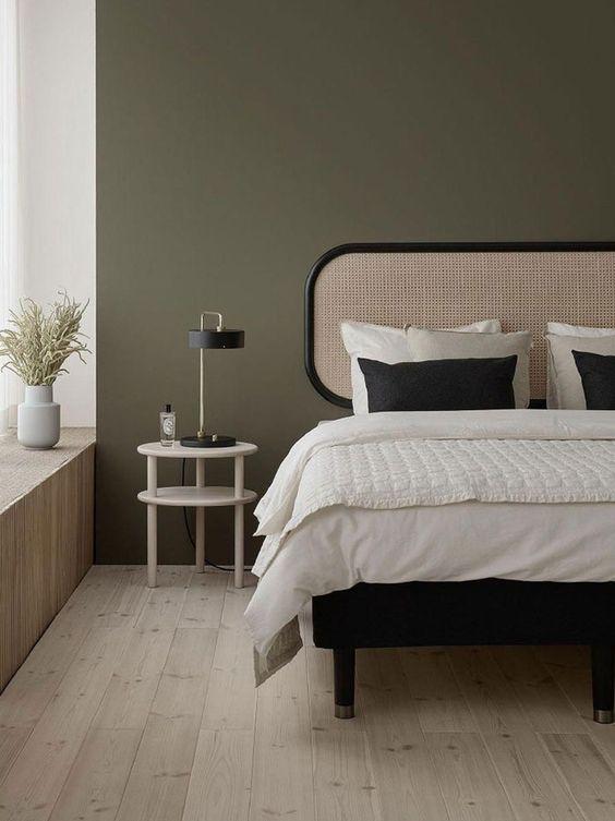 minimalist Japandi bedroom design