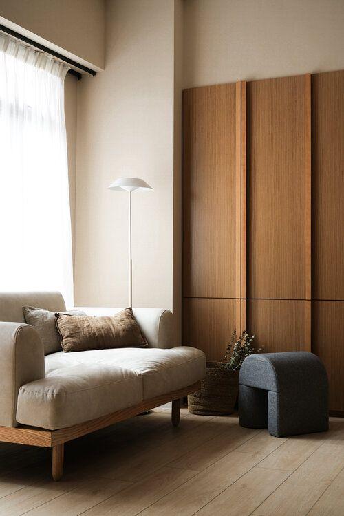 Simple line Japandi decor style