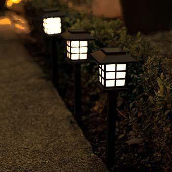 solar-powered Japanese garden style lamp style