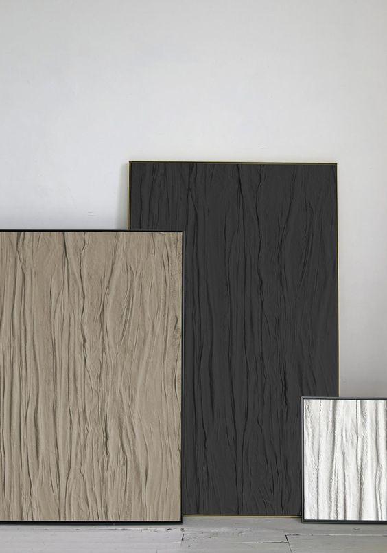 minimalist textured Japandi wall art