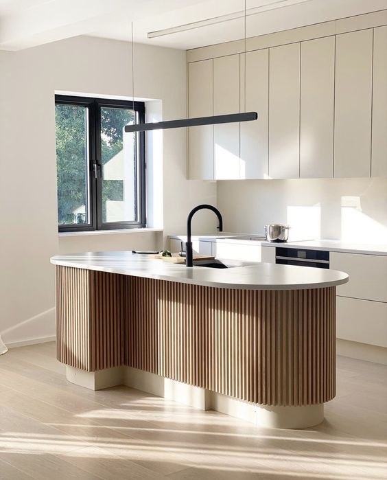 Stylish clean minimalist Japandi kitchen ideas