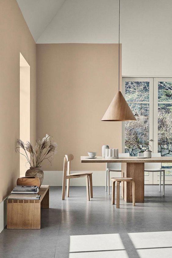 modern Japandi dining room decor