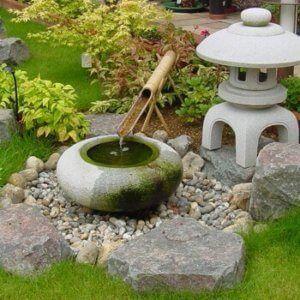 water feature in Japanese garden