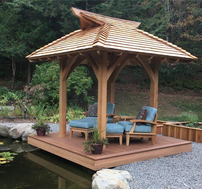 Japanese garden pavilion ideas