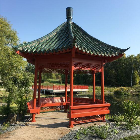 Japanese garden pavilion style to decorate patio