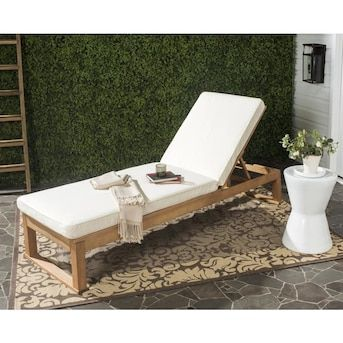 outdoor furniture chaise lounge and coffee table