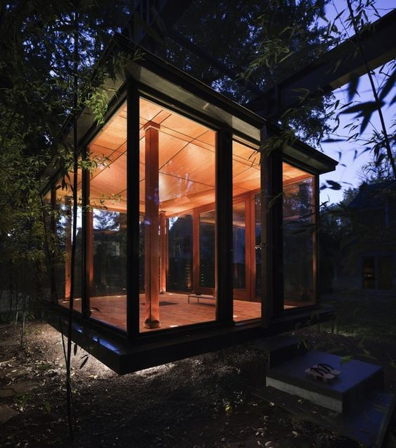 modern Japanese tea house floating design