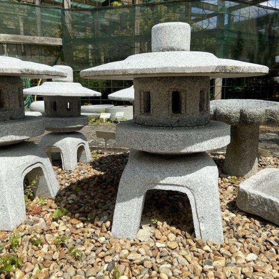 Japanese stone lantern in the garden