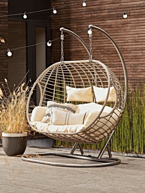 Nesting in the swing chair